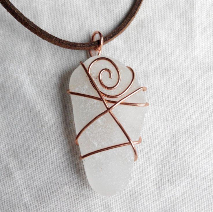 Genuine Irish sea glass necklace. made in Ireland by terramor on Etsy