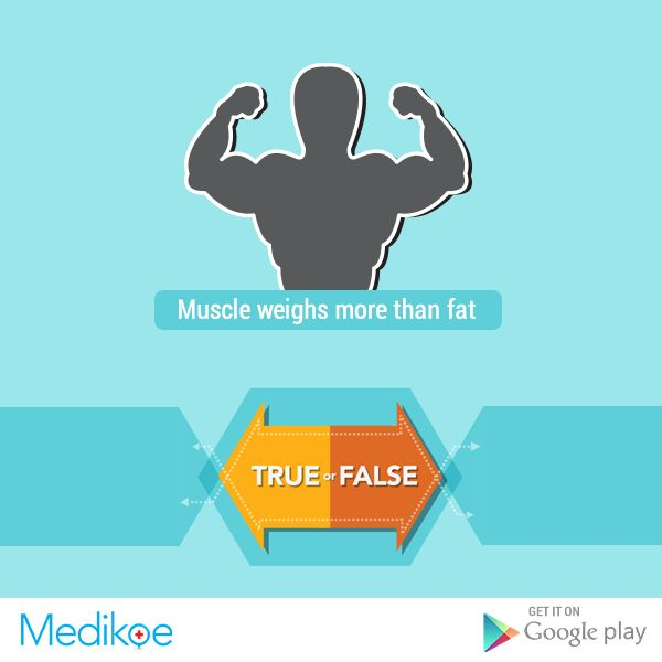 #HealthyFacts #True or #False Which weighs more - #Muscle or #Fat? #Health #Fitness #Workout #HealthyLiving #Medikoe