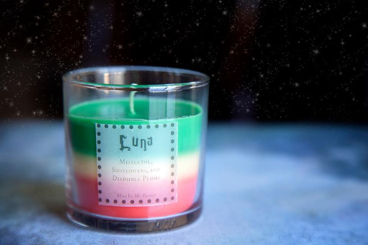 Luna Scented 4 oz Candle: Mistletoe, Sun Flowers, and Dirigible Plums - Thumbnail 1