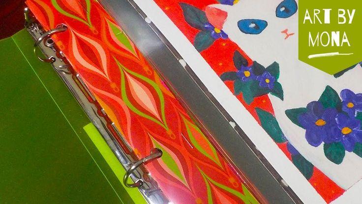 DIY - Laminate artwork and make binder inserts with scrapbook paper