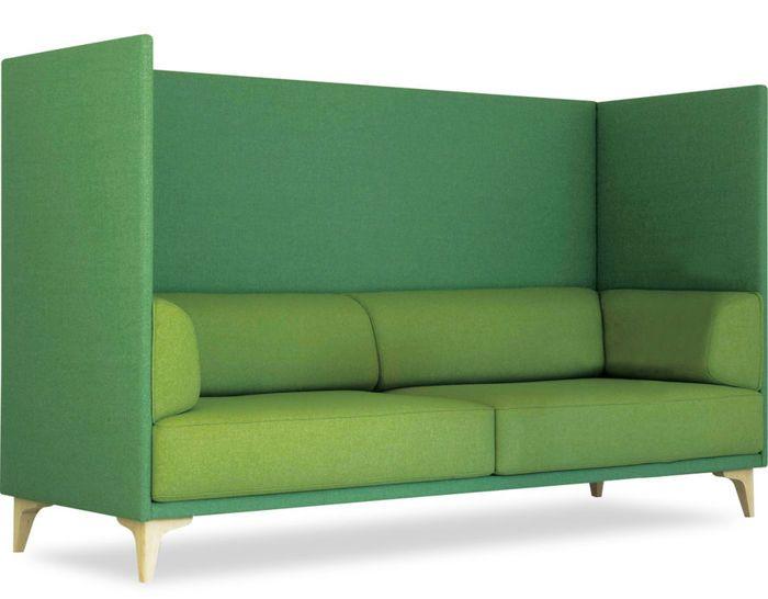 EJ400-3B apoluna box high back 3 seat sofa by studio Hannes Wettstein for Erik Jorgensen