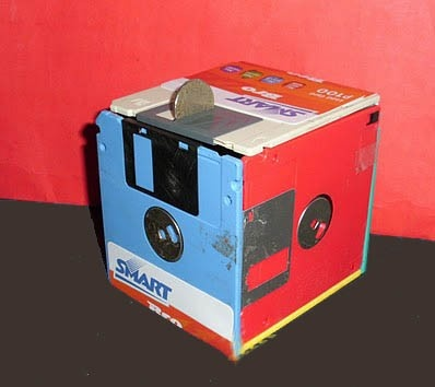 Floppy disk money box - if only I still had floppies