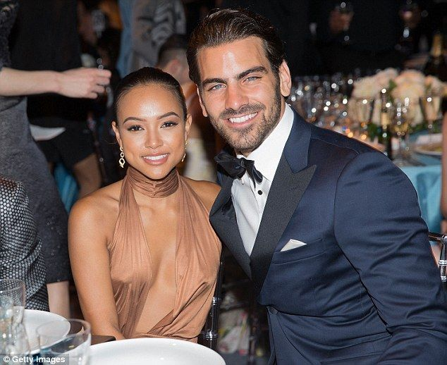 Come dine with me: Karrueche and Nyle were spotted settling into their seats as the proceedings kicked off