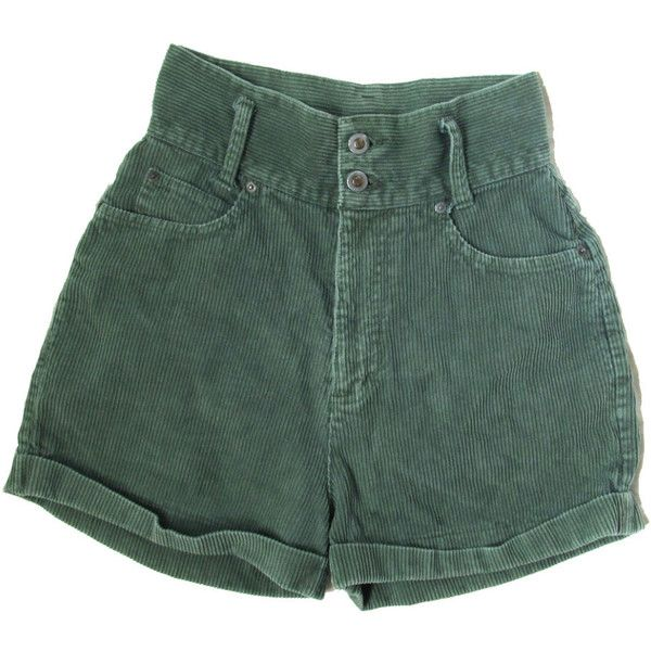 25% OFF SALE vintage shorts corduroy high waisted 1990s green size... (€26) ❤ liked on Polyvore featuring shorts, bottoms, pants, short, high-waisted shorts, zipper shorts, corduroy shorts, green high waisted shorts and highwaist shorts