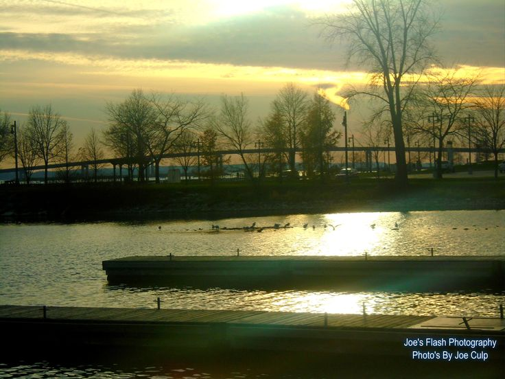 Autumn Sunset on the Bay of Quinte at the end of George Street Belleville Ontario