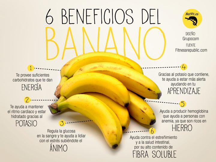 6 Beneficios del banano