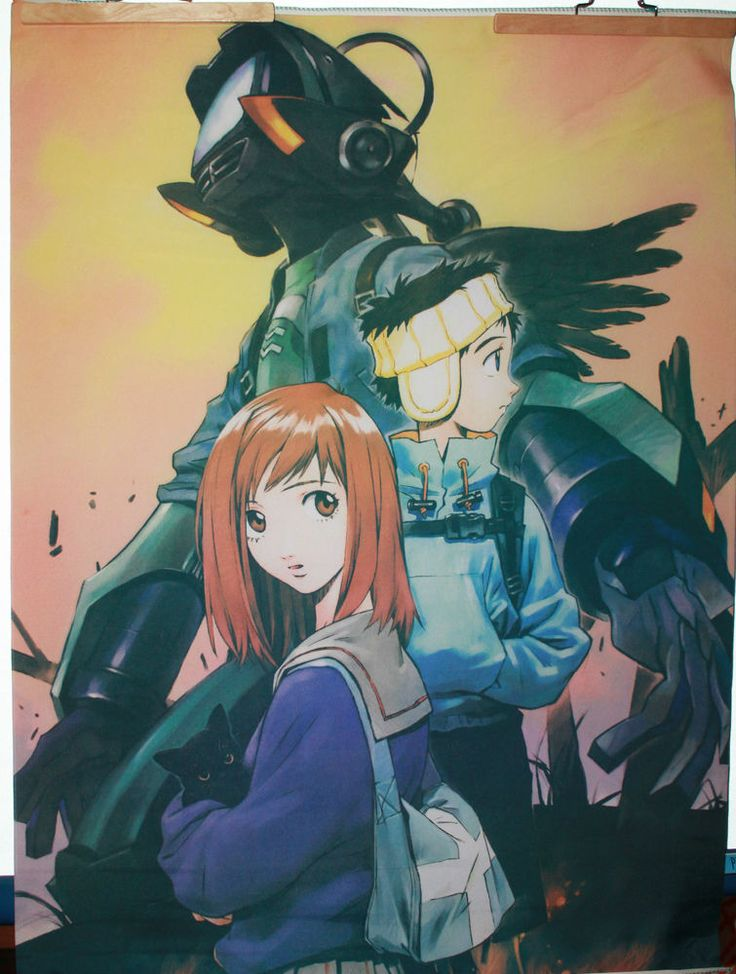 Flcl flag poster japanese anime 29 x 40 wall hanging