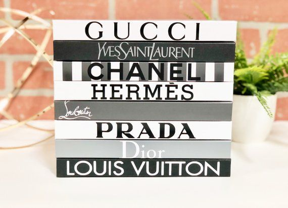 8 BOOKS , Grey/White/Black, Designer Book Set, Gucci, YSL