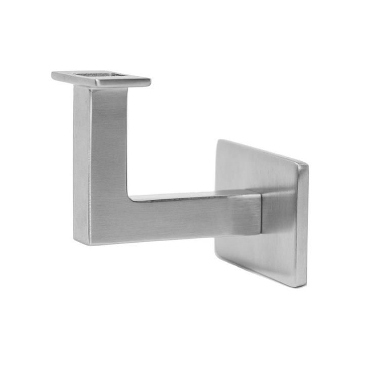 Awesome Stair Handrail Brackets Brushed Nickel The Home Depot For Trends And Ideas Steel Railing Stainless Steel Handrail Handrail