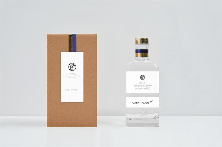 Tequila Casa Pujol 87. Bottle & Box. Design by www.anagram.com