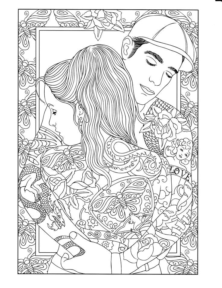 94 best Body Art Tattoo Coloring Pages for Adults images on