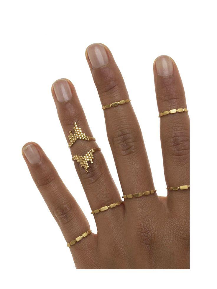 Maria Black, Cascade Ring Gold, Scandinavian Fashion, wild-swans.com