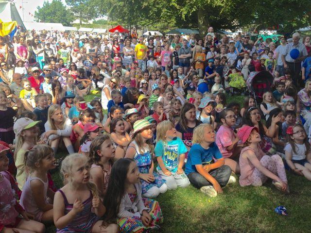 A huge crowd enjoys Custard Pie in Sligo Ireland