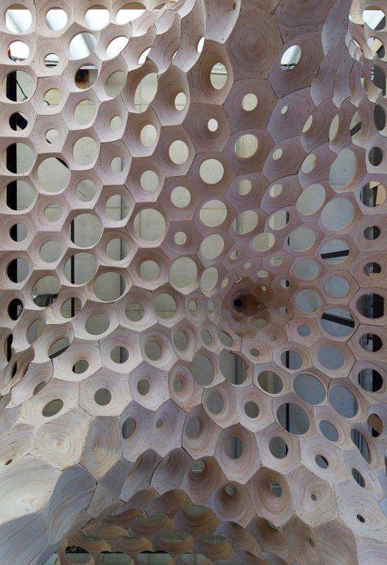 La Voute de LeFevre exhibition at the Banvard Gallery in Solid Baltic Birch Plywood   Matter Design.