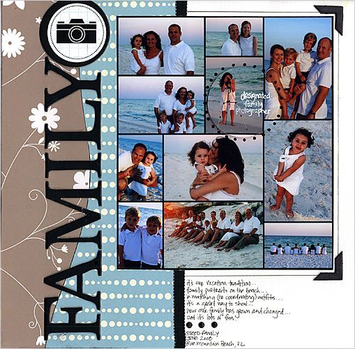 #papercraft #scrapbook #layout Snapfish Photo Collage Prints - for scrapbooking