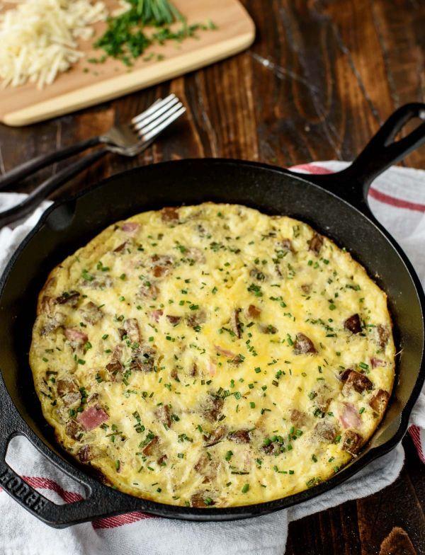 Cheesy Ham and Potato Frittata   Recipe   Potato Frittata, Hams and ...