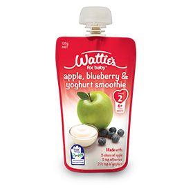Wattie's Apple, Blueberry & Yoghurt Smoothie | Forbaby.co.nz