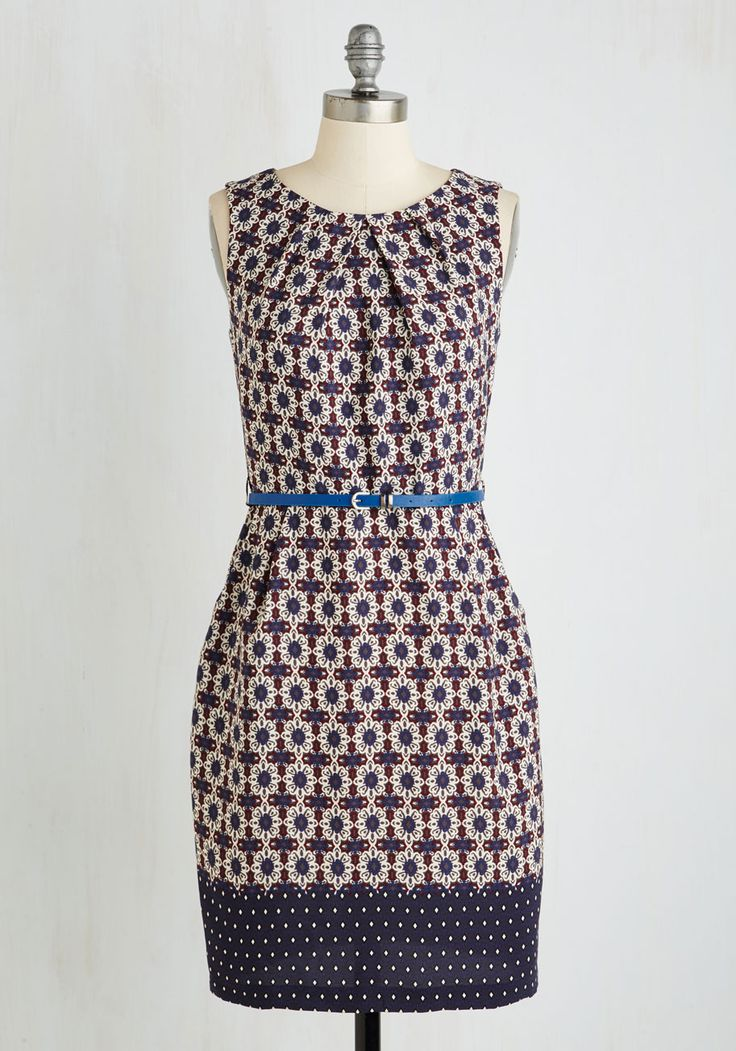 Teaching Classy Dress in Spanish Tile, #ModCloth