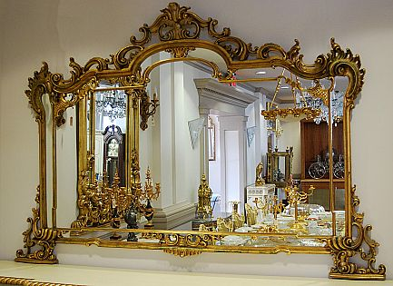 578 best images about specchi cornice on pinterest for Floor mirror italian baroque rococo style