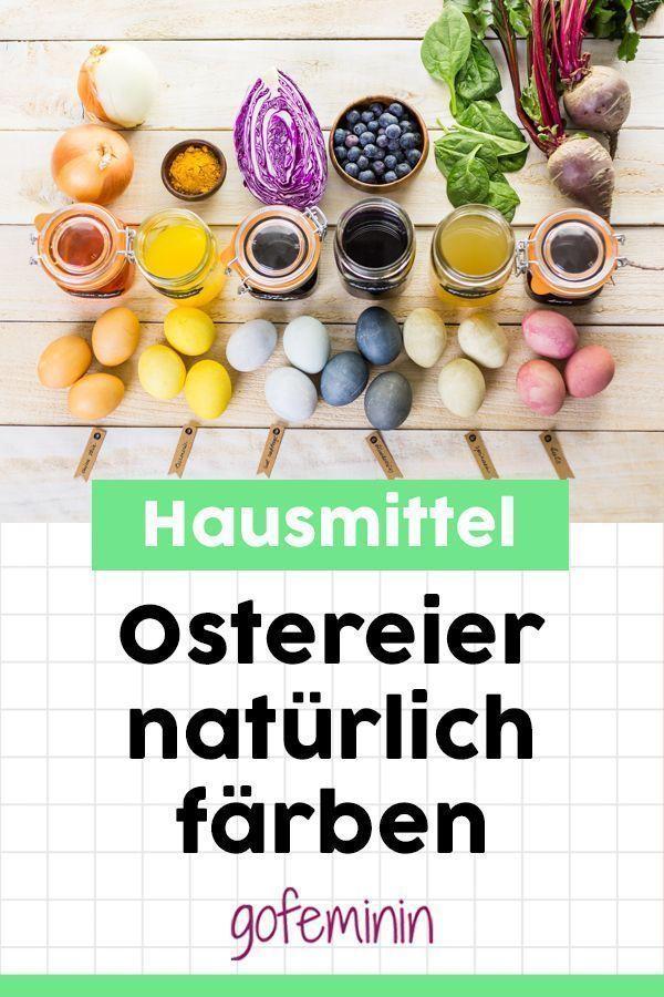Ostereier natürlich färben: Mit Zwiebeln, Rote Beete & Co. – #Beete # färben …,  #amp #…