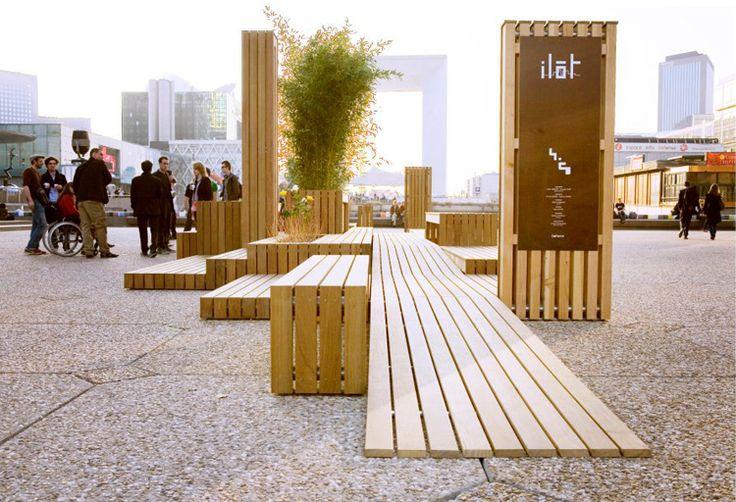 Mobilier urbain - Chemin zen / plantes - Sièges/bancs