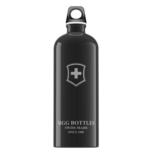 Sigg Water Bottle - Swiss Emblem Black - 1 Liter