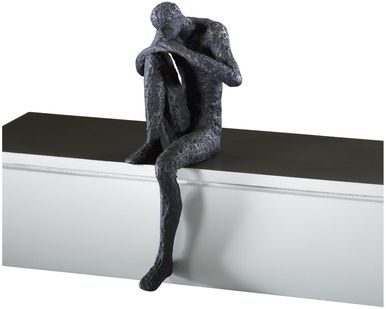Sculpture Statue CYAN DESIGN Thinking Man Shelf Decor Old World Cast Iro CY-1464