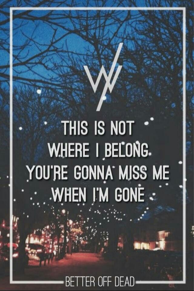 Better Off Dead- Sleeping with Sirens
