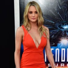 "HOLLYWOOD, CA - JUNE 20:  Actress Hunter King arrives at the Screening of 20th Century Fox's ""Independence Day: Resurgence""at TCL Chinese Theatre on June 20, 2016 in Hollywood, California.  (Photo by Frazer Harrison/Getty Images)"