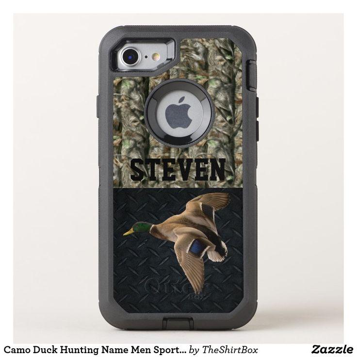 Camo duck hunting name men sports mallard otterbox