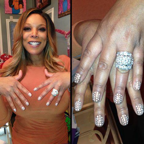 dots wendywilliams anniversary ringscelebscelebritieswedding - Wendy Williams Wedding Ring