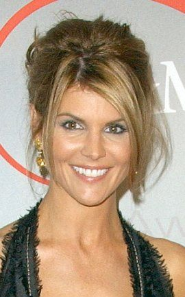 TV Celebrity Lori Loughlin in a Classic French Twist Hair Style
