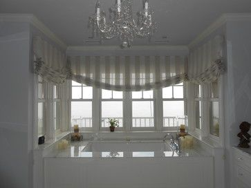 Bathrooms beach style roman blinds
