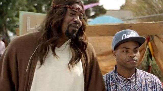 """Aaron McGruder raised more than a few eyebrows when he announced his latest satirical network show, provocatively entitled """"Black Jesus.""""  Here's the thing about Aaron McGruder's 'Black Jesus' on Adult Swim Tonight, 11pm Black Jesus The Boondocks Adult Swim   http://www.commdiginews.com/entertainment/heres-the-thing-about-aaron-mcgruders-black-jesus-23222/"""