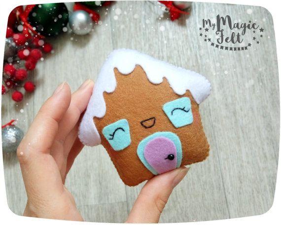 adornos navideos fieltro jengibre casa rbol de navidad navidad decoracin de pan de jengibre fieltro decoracin