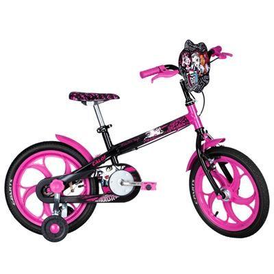Compre já a sua Bicicleta Aro 16 – Monster High – Caloi, por R$ 399,99.