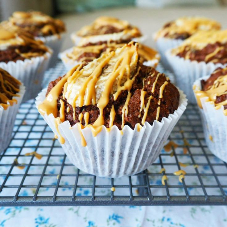 peanut butter choc banana muffins