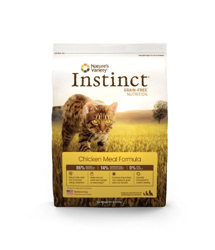 Instinct Grain-Free Dry Cat Food, Chicken Meal Formula, 12.1-Pound Package
