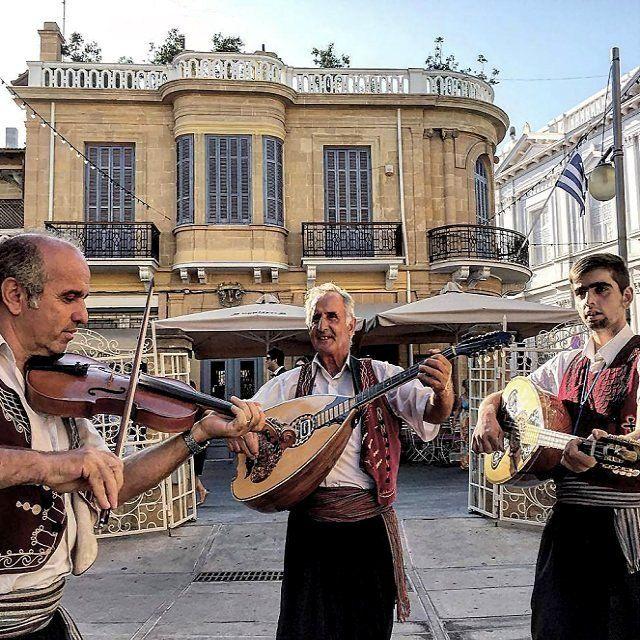 Traditional musicians, Nicosia, Cyprus HELLAS
