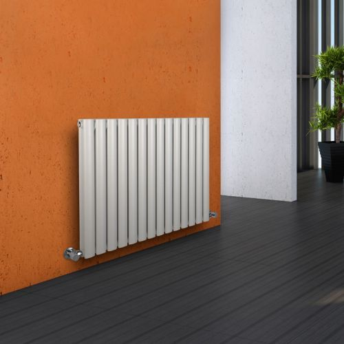 Aruba - Luxury White Horizontal Designer Double Radiator 635mm x 834mm - Image 1
