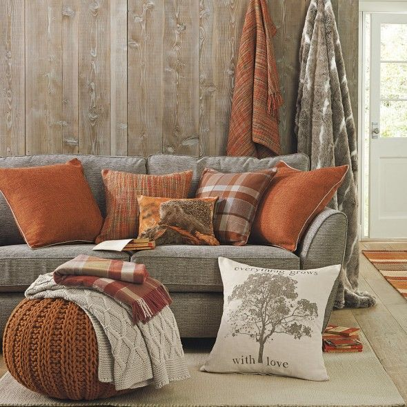 43 best Orange Room Ideas images on Pinterest - orange and brown living room