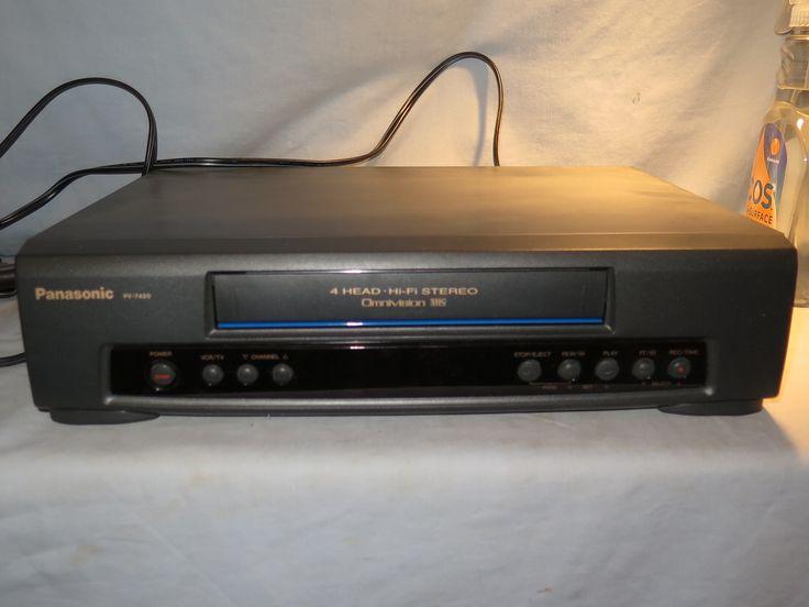 Panasonic PV7450 Omivision HiFi 4 Head VCR Video Cassette Recorder No Remote