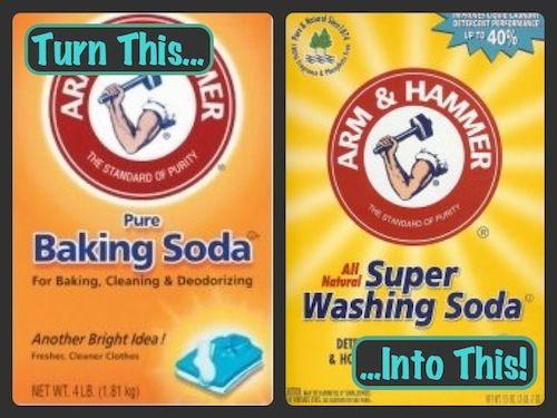 Creating baking soda into washing soda for some homemade laundry soap