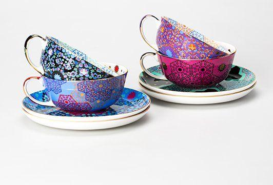 Morroccan Tealeidoscope Cup & Saucer   T2 Tea #sweetdreamsmum #mumsgiftguide