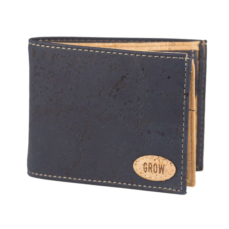 Mens wallet, Blue Cork wallet, FREE SHIPPING, Vegan wallet, eco wallet, vegan Product, handmade wallet, gift for him, green Products, Kork by GrowFromNature on Etsy