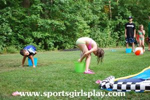 A collection of fun water games to play in the backyard - perfect for camp, scouts, teambuilding