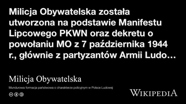 """""""Milicja Obywatelska"""" på @Wikipedia:"""