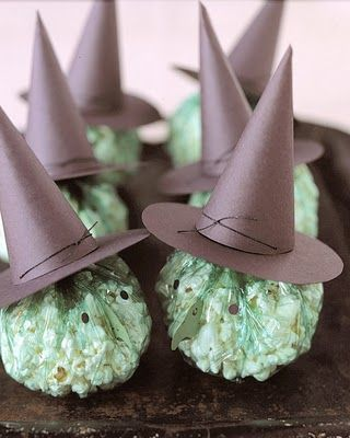 Popcorn witches treat - just perfect for a kids Halloween party.