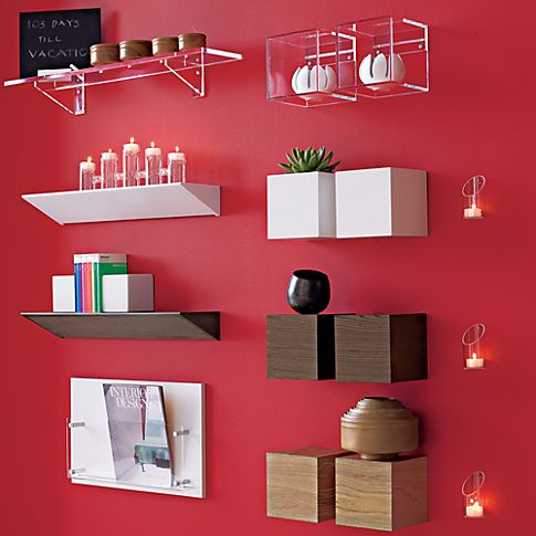 wall-mounted candleholder in candleholders, candles | CB2