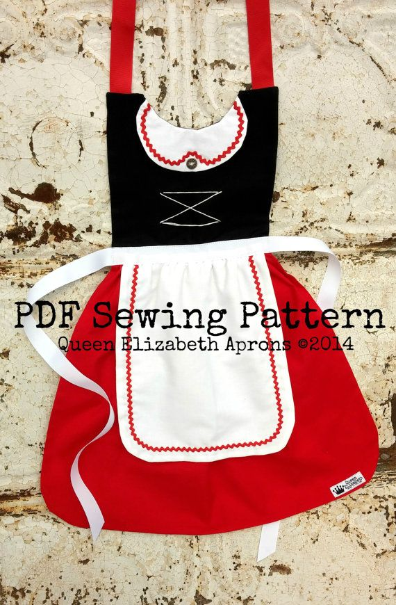 Swiss Maiden Apron ~ Queen Elizabeth Aprons copyright© 2014 and beyond. This pattern is for personal use only. Finished product may not be used for Retail or